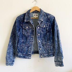 Thread & Supply blue marbled jean jacket